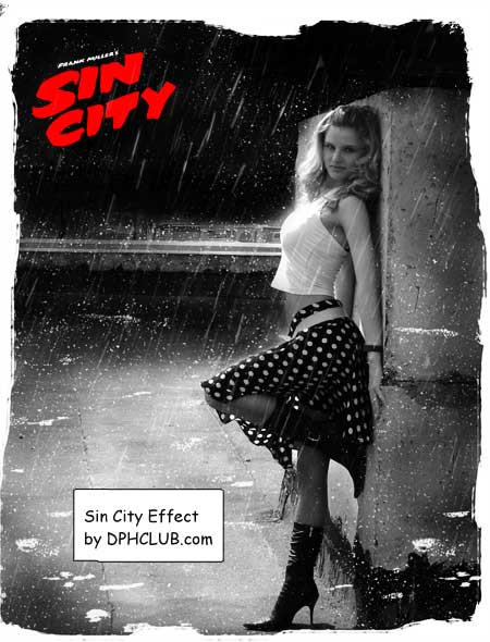Sin City Photoshop Tutorial Result